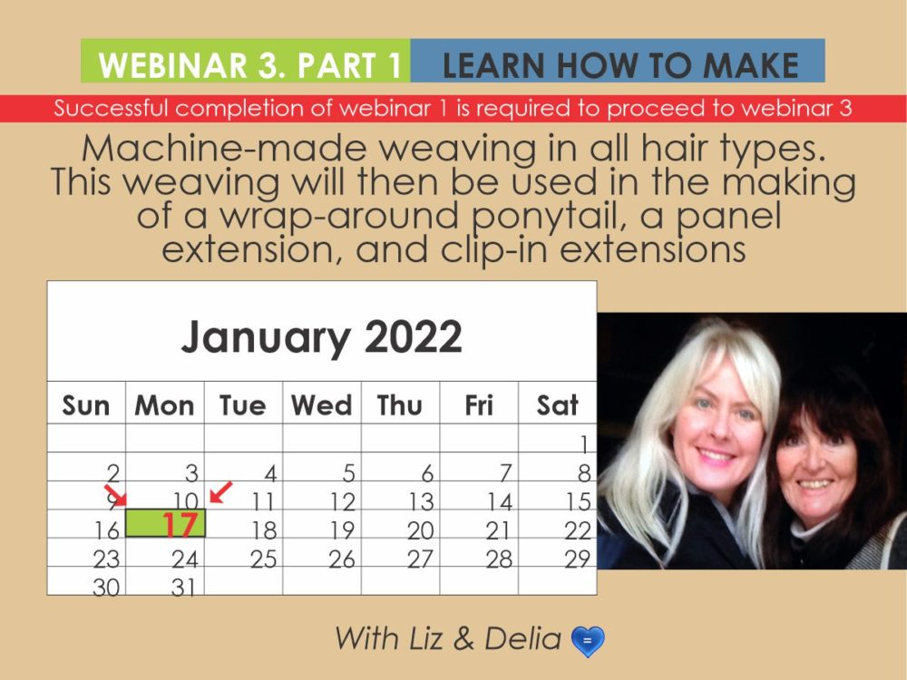 Webinar 3 Part 1 - Machine-Made Weaving for Wrap-Around-Ponytails, Panel and Clip Extentions