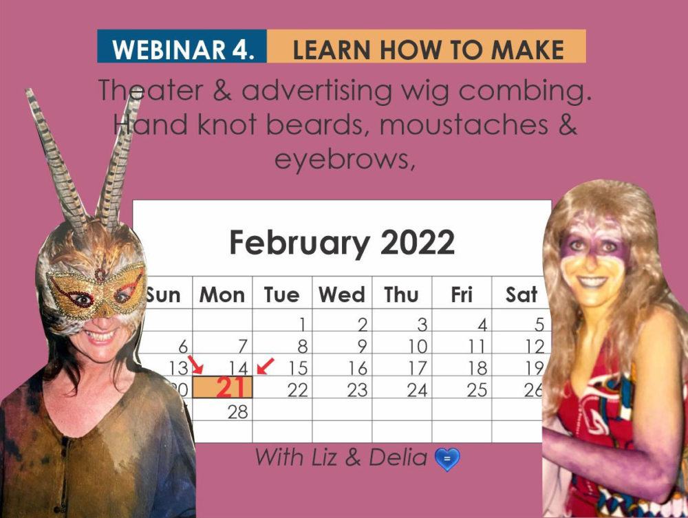 Webinar 4 - Theatre & Advertising Wig Combing, Hand Knot Beards, Moustaches & Eyebrows