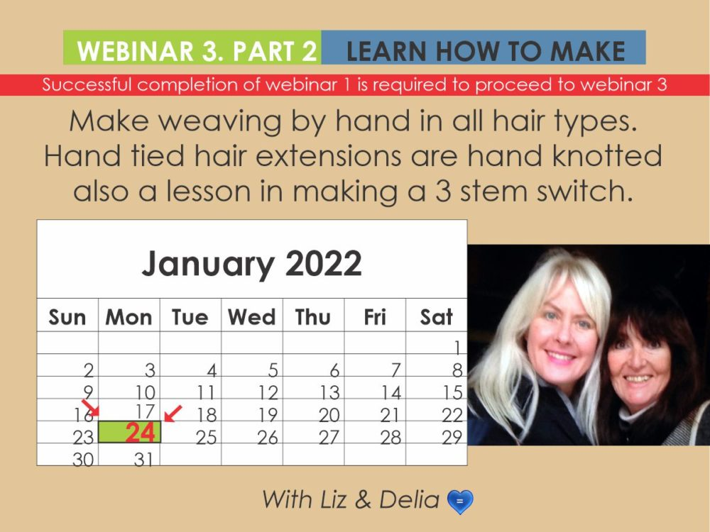 Webinar 3 Part 2 - Weaving By Hand for Hand-Tied Hair Extentions and 3 Stem Switch